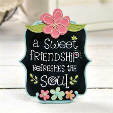 "Blossom Bucket Figurine Sign ""A Sweet Friendship Refreshes the Soul"" Mother'sDay"