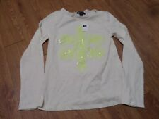 bnwt girls long sleeve gap kids shirt-size 10- sequins