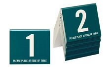 Wedding Table Numbers 1-20, Tent Style, Teal w/white number, Free shipping