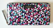 Kate Spade Daycation Neda Zip Around Wallet NWT Dance Party Dot Clutch Authentic