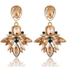 Clear Beads Rheinstones Dangle Drop Pierced Stud Long Long Fashion Earrings New