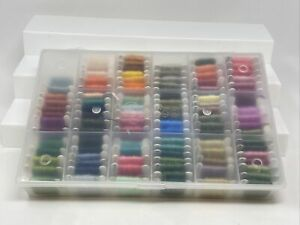 Lot 101 DMC Threads Numbered Bobbin Cards Skein Cross Stitch Embroidery