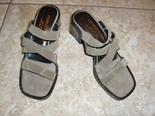 ITALY~DONALD J.PLINER~Canvas/Elastic Slip-ons Slides Sandals Shoes size 6.5M