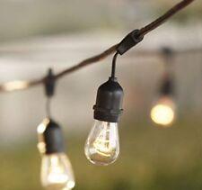 48Feet Outdoor String Lights Long Outside Hanging Garden Patio Lighting