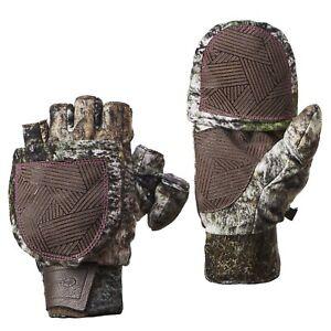 Ladies Mossy Oak Breakup Country, L/XL, Heat Retention, Pop-Top Gloves, NEW