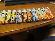 Lot of 10 Premier Premier Butane Lighter Refillable with Sexy Girl Designs