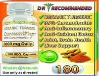 ORGANIC TURMERIC 95% CURCUMIN Best Tumeric Supplement with Black Pepper Capsules