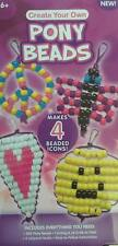 Pony Bead Set Create Your Own Makes 4 New Arts & Crafts Smiley Face Hearts