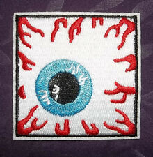 BLOODSHOT EYEBALL PATCH EYE  PATCH SQUARE HORROR DIY COSTUME BIKER PUNK