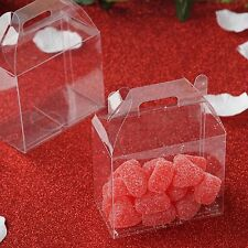 "100 CLEAR FAVORS BOXES 3.5"" Wedding Party Decorations GIFT Supply SALE"