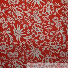 BonEful Fabric Fq Cotton Quilt Orange Coral Cream Flower Leaf Toile Polka Dot Us
