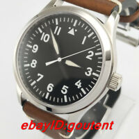 42mm Sterile Black Dial Sapphire Crystal Automatic Mechanical Mens Watch