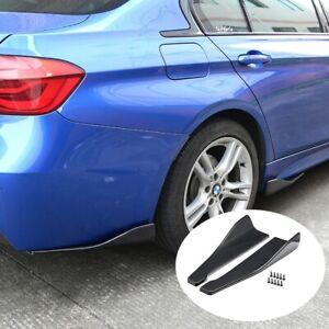2pc Carbon Style Rear Bumper Diffuser Fin Spoiler Lip Wing Splitter Anti-scratch
