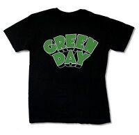 Green Day Green Logo Black T Shirt New Official Punk Rock Band