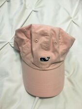 Vineyard Vines Pretty Pink w/ Blue Whale Strapback Hat Adjustable Cap One Size