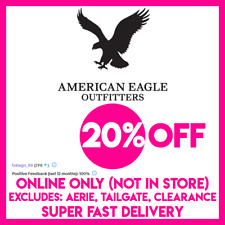 American Eagle COUPON 20% OFF Purchase - WEB CODE, SUPER FAST eDELIVERY!