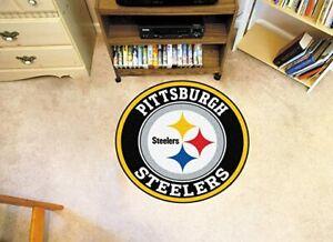 Pittsburgh Steelers Round Area Rug Modern Flannel Carpet Floor Mat Home Decor
