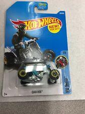 2017 Hot Wheels Quad Rod #186/365 [Blue] HW Moto 1/64 New On Card B28