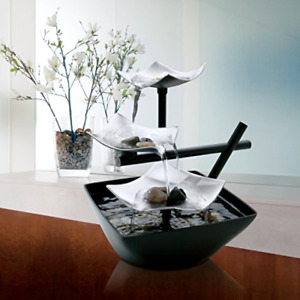 HoMedics Silver Springs Indoor Relaxation Fountain, Illuminated Waterfall