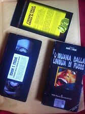 THE IGUANA WITH THE TONGUE OF FIRE - VHS IMPORT FULL CARTON  FREDA UNCUT GIALLO