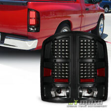 Black Design Pair 2002-2006 Dodge Ram 1500 2500 3500 LED Tail Lights Brake Lamps