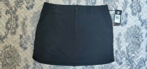Under Armour Links 1272345 Grey Golf Skirt With shorts UV Protect Size 12 RRP$74
