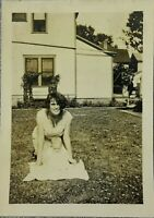Vintage Old 1920's Photo of Beautiful Woman Mother Leaning over Baby Dayton Ohio