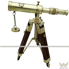 ROYAL NAVY MARINE BARREL SPYGLASS SCOPE W TRIPOD STAND NAUTICAL DECOR GIFT ITEM