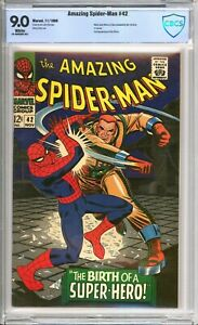 Amazing Spider-Man #42 - CBCS 9.0 - WHITE pages - 1st app of Mary Jane - not CGC