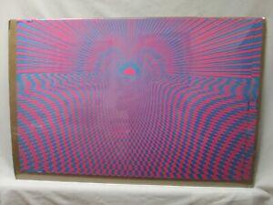 PSYCHO SUN BLACK LIGHT PSYCHEDELIC VINTAGE POSTER GARAGE 1970'S CNG493