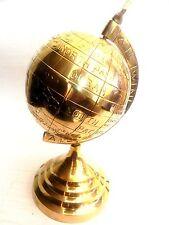"Nautical Maritime ~ Solid Brass Globe ~ Table Top ~ Earth / World Globe 5"""