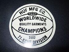 """HUF WORLDWIDE Skate Sticker FINGER CAT Logo 4 X 3.5/"""" skateboards helmets decal"""