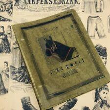 Antique Montags Blue Horse school supplies vintage 2 ring binder notebook flexib