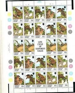 SOLOMON ISLANDS SG461-466 SANDFORDS SEA EAGLE SHEETLET 1982 MNH