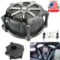 Cut Air Filter Intake Cleaner Kit For Harley Touring Street Glide FLHX 2008-16