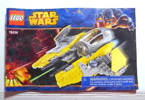 Lego Star Wars 75038 Jedi Interceptor Instruction Manual Book Only