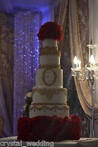 Red Rose wedding cake stand