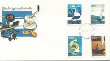 Yachting in Australia set of 4 stamps Fdi Melbourne 14 Oc 1981 Unaddressed