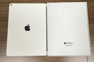 """Genuine Apple iPad Pro 12.9"""" Smart Cover + Silicone Case WHITE Gen 1 /2 2015/17"""
