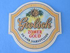 Beer Coaster Mat: GROLSCH Bierbrouwerij Zomer Goud ~*~ Enschede, The Netherlands