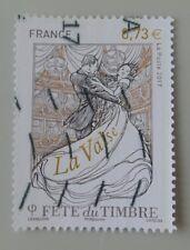 France année 2017 fête du timbre la valse oblitéré