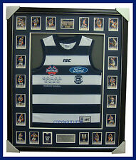 Geelong Limited Edition Premiers 2011 Jumper Framed with Select Premiers Set