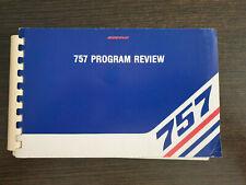 BOEING 757 PROGRAM REVIEW MANUAL