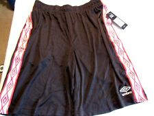 UMBRO MENS BLACK ACTIVE SHORTS, SIZE MEDIUM NEW WITH TAGS