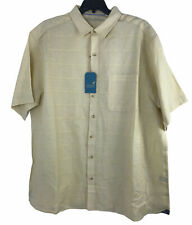Caribbean by Roundtree and York Mens S/S Shirt 3XT Yellow Button Up Tag $79
