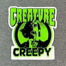 "CREATURE CREEPY Skateboard Sticker 4"""