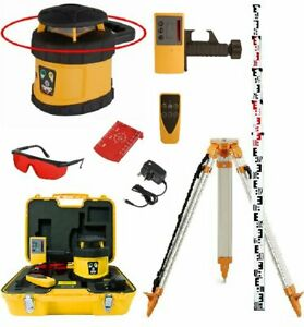 Fukuda FRE 205 Rotary Laser Set c/w Receiver, Remote Control, Tripod & Staff