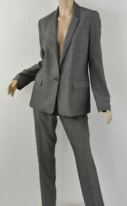 BANANA REPUBLIC Gray Wool Twill 1-Button Blazer & Harper Pants Suit Set M 10