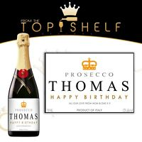 personalised champagne / prosecco label birthday wedding any occasion gift