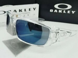 OAKLEY polished clear/ice iridium CRANKSHAFT OO9239-04 sunglasses! NEW IN BOX!